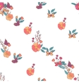 Floral Seamless Vintage Wildflowers Pattern vector image