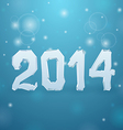 Ice New Year background 2014 vector image