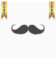 Mustache flat icon vector image