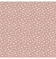 Seamless pattern of hearts and snow vector image