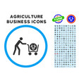beef purchase rounded icon with set vector image