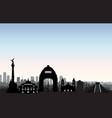 mexico city skyline cityscape landmark silhouette vector image
