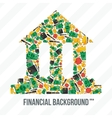 Collage From Financial Elements vector image