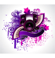 abstract music poster vector image vector image