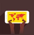 businessmen global communication concept design vector image