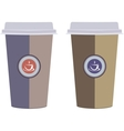 Coffee cups Isolated on a white background vector image
