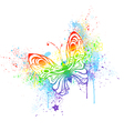rainbow butterfly vector image