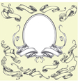 Ribbon Frame and Border Ornaments vector image