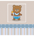 Bear with a baby bottle vector image