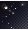 Stars in Space Magic light particle Glowing vector image