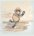 selfie on the skates vector image