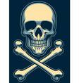 classic skull with crossed bones vector image vector image
