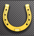 gold metal horseshoe luck symbol fortune talisman vector image