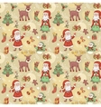 Holliday seamless pattern with santa vector image