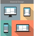 Flat modern responsive material design on various vector image