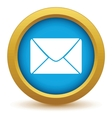 Gold letter icon vector image