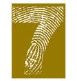 Fingerprint Alphabet No 7 vector image