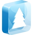ice christmas button vector image