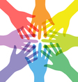 Transparency Many Teamwork People Join Colorful vector image