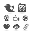 Social network icons isolated on white vector image vector image