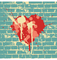 heart symbol on brick wall vector image