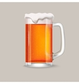 Glass of red beer vector image