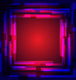 Abstract colored square frame vector image