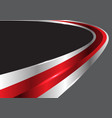 abstract red glossy silver line curve gray vector image