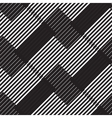 Black and white stripe geometric vintage design vector image