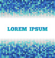 Blue square mosaic background place for text vector image