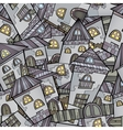 Cartoon houses seamless pattern vector image