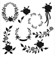 Collection of floral element vector image