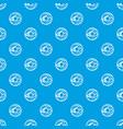 glazed donut pattern seamless blue vector image