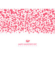 happy valentines day card with hearts pink on vector image