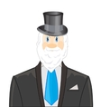 Man with beard in business suit vector image