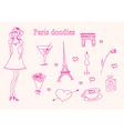 Paris doodles set vector image