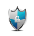 Protection blue shield vector image