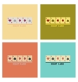 assembly flat icons poker high card vector image