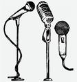 Set microphone vector image