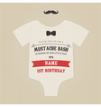 Funny vintage baby birthday invitation vector image