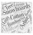 arbor snowboards Word Cloud Concept vector image