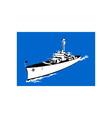 World War Two Battleship Retro vector image vector image
