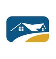 Square home real estate logo vector image