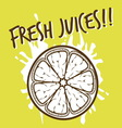 fresh juices3 vector image