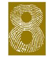 Fingerprint Alphabet No 8 vector image