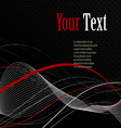 Black abstract background composition vector image vector image