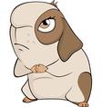 Funny brown guinea pig cartoon vector image