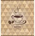 Black coffee vintage pattern vector image