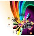 Dj dance poster vector image