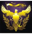 eagle with banner vector image